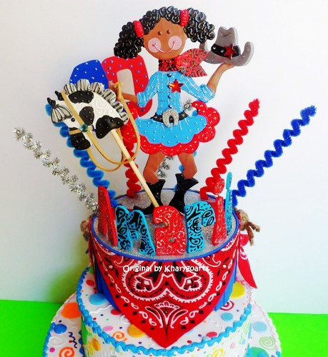 Incredible Birthday Cake Topper Cowgirl Party Personalised Birthday Cards Sponlily Jamesorg