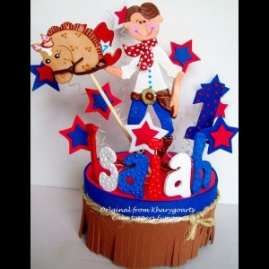 Birthday Cake Topper Cowboy